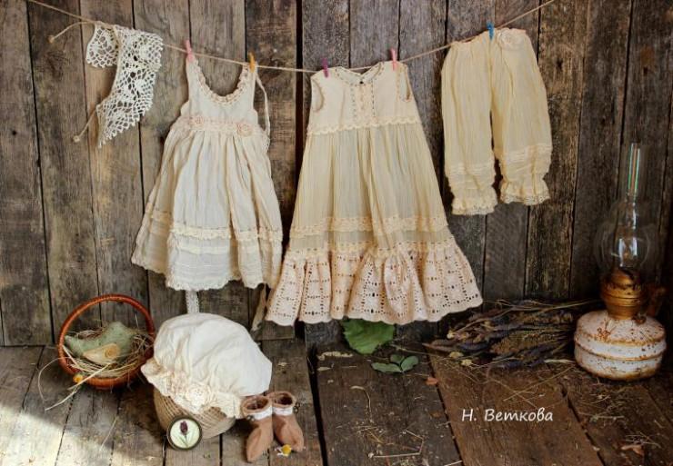 Старинная одежда для кукол