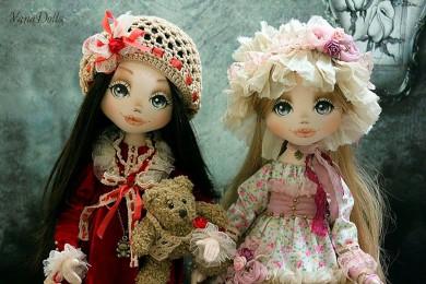 Текстильные куклы Яны Тараненко