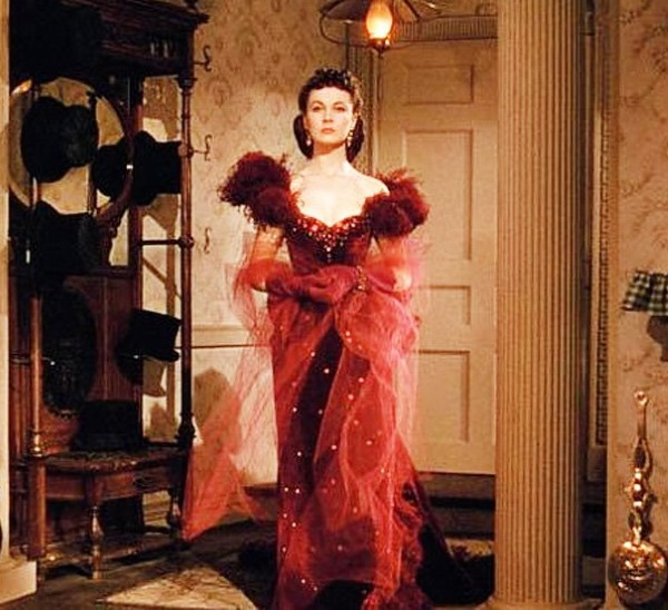 Бордовое платье Скарлетт