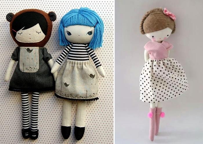 Прическа для текстильной куклы
