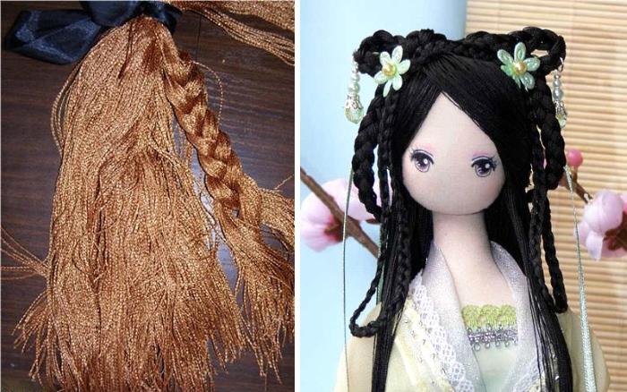 Волосы из нитей