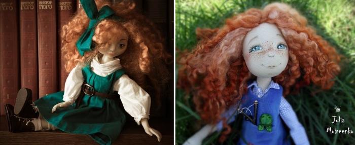 Куклы с волосами из овечьих трессов