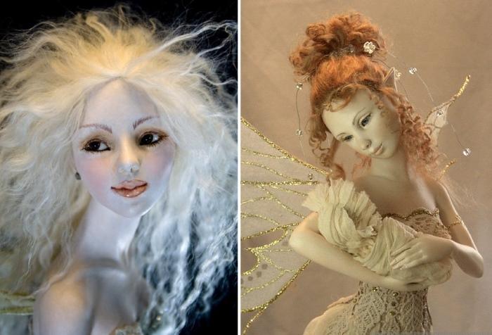 Волосы для куклы из шкуры ламы