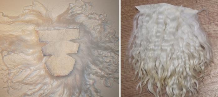 Шкура с мехом тибетской ламы для кукольных волос