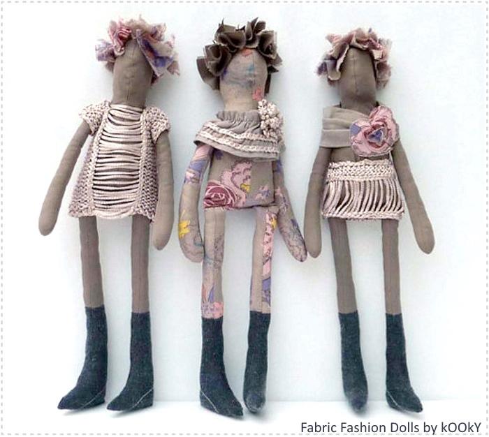Прическа для примитивных кукол