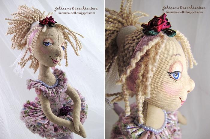 Волосы из льняных жгутов. Автор: Юлианна Епанчинцева