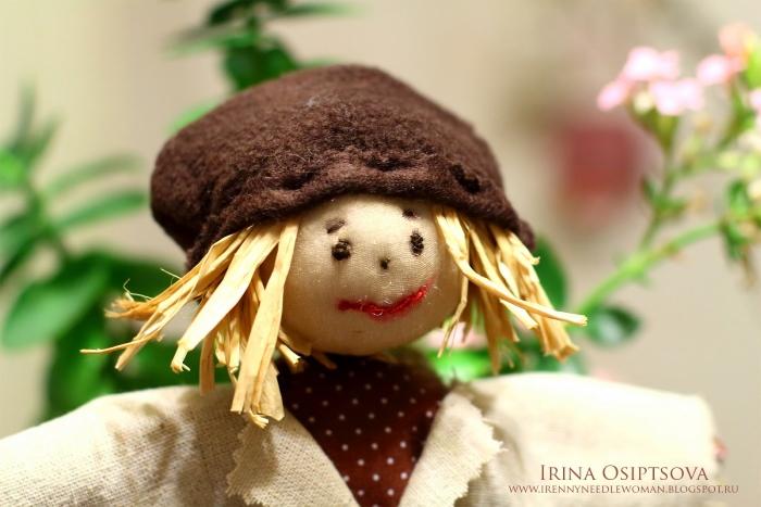 Прическа из обычной соломы. Автор: Ирина Осипцопа