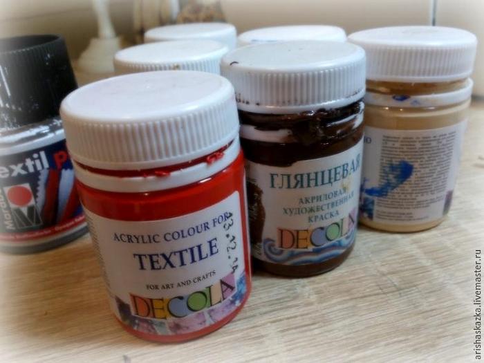 Акриловые краски для текстиля