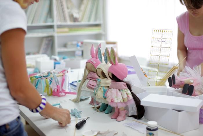 Куколки, изготовленные на мастер-классах Т.Коннэ