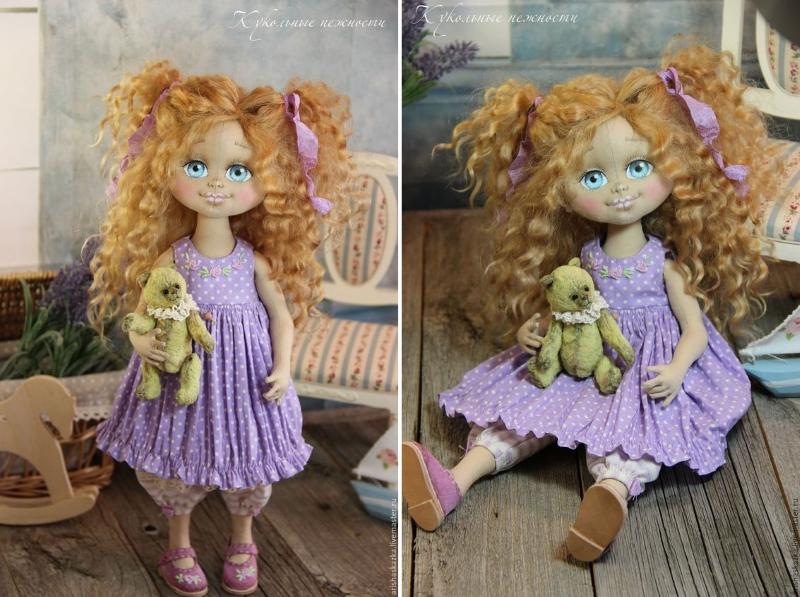 Кукла Виолетка, Автор: Кукольные нежности от Ариши