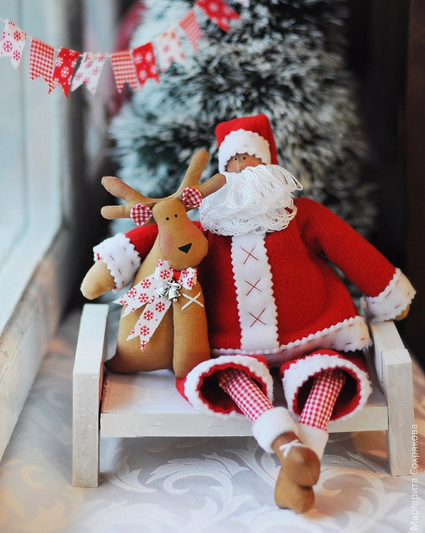 Выкройка Тильда Санта Клаус