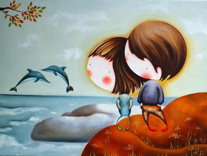 Картина: Зимнее море