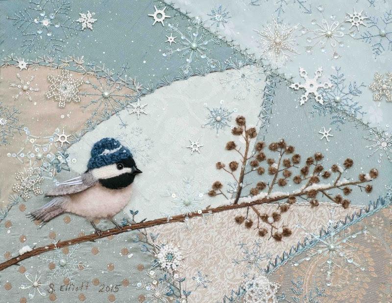 Вышитая картина в смешанной технике от от SUSAN ELLIOTT