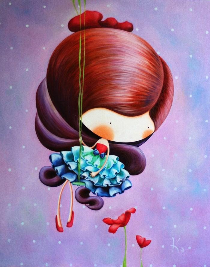 Картина: Лиловая принцесса