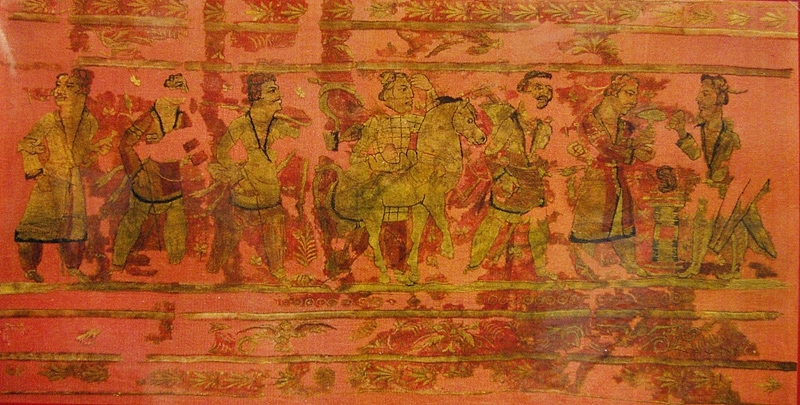 Древнейшая вышивка из могильников северной Монголии