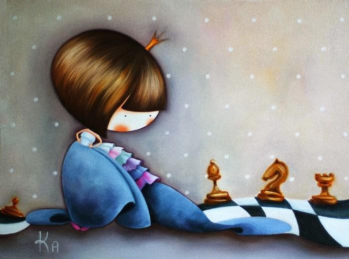 Картина: Шахматная принцесса