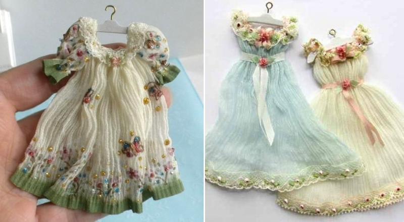 Одежда для кукол, вышитая бисером