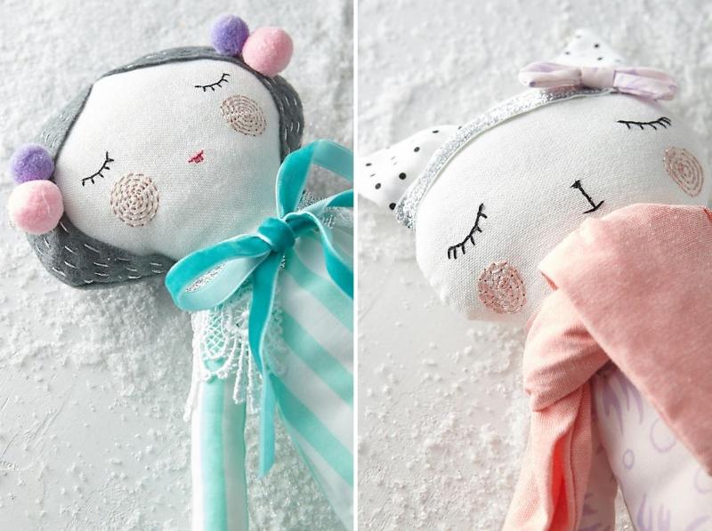 Вышивка на кукле