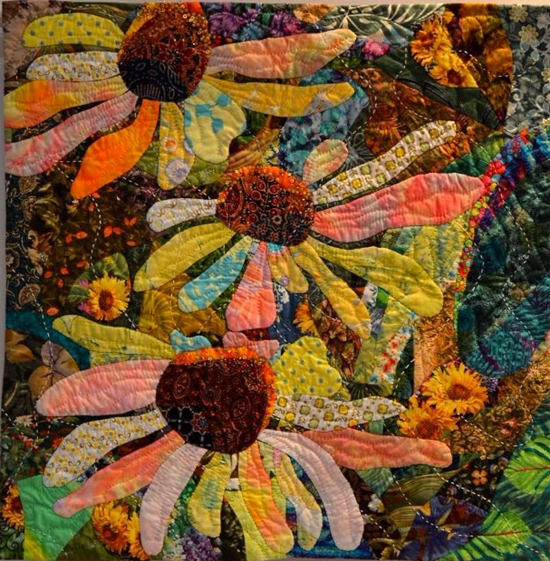 Картина из кусочков ткани своими руками 70