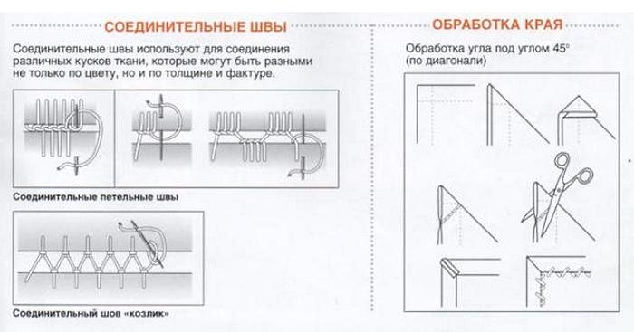 Соединительные швы для вышивки