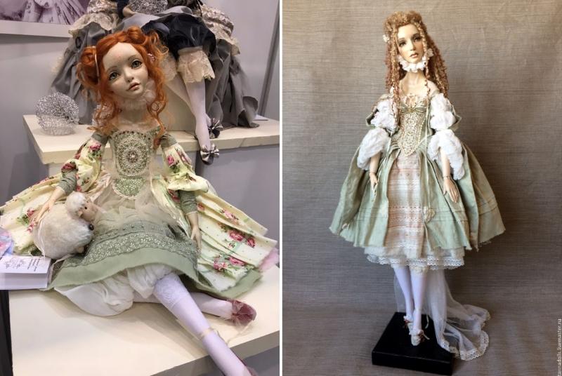 Куклы с одеждой, украшенной вышивкой от Анны Тереховой (tannadolls)