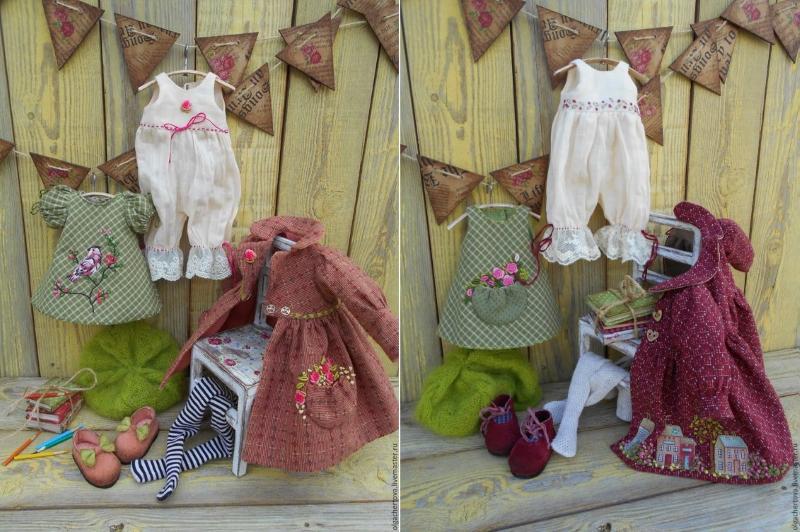 Одежда для кукол с вышивкой