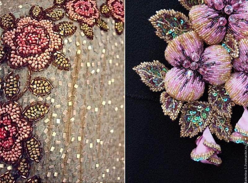 Вышивка из паеток цветок 65
