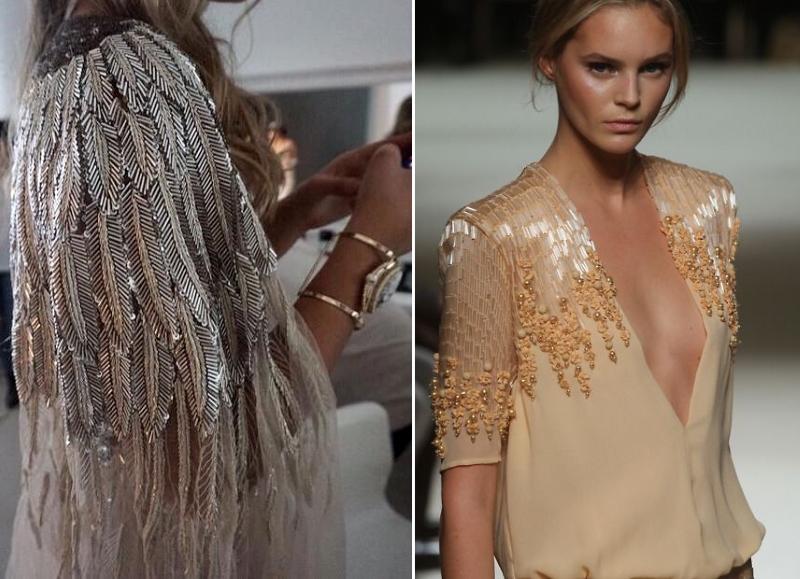 вышивка бисером и стеклярусом на одежде