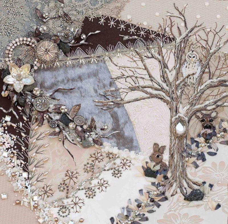 Вышитая картина в смешанной технике от SUSAN ELLIOTT