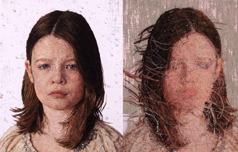 Портреты от мастера Сайс Заваглия, вышитые гладью