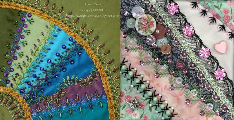 Вышивка в технике crazy quilt (крейзи квилт)