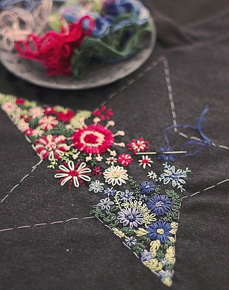 Красивая вышивка мулине