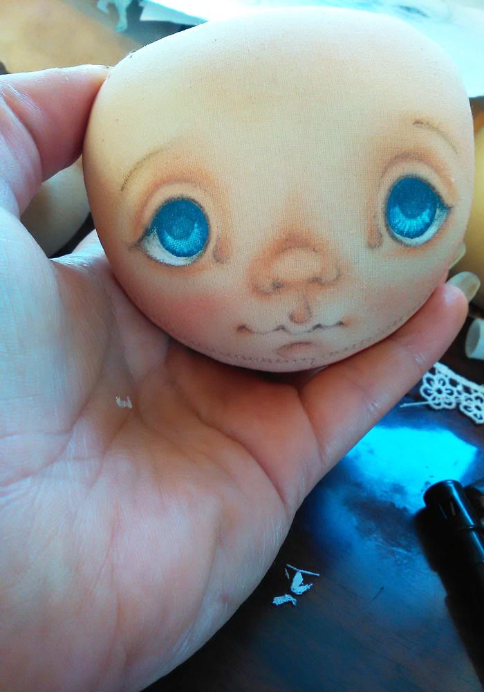 лицо куклы из ткани