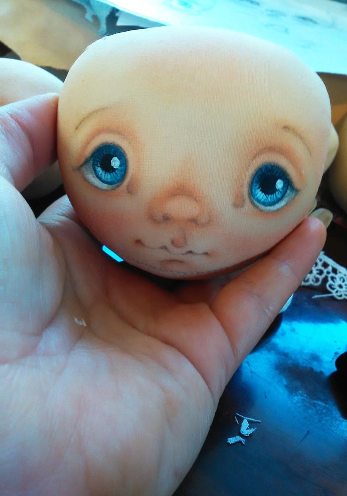 нарисовать лицо кукле своими руками