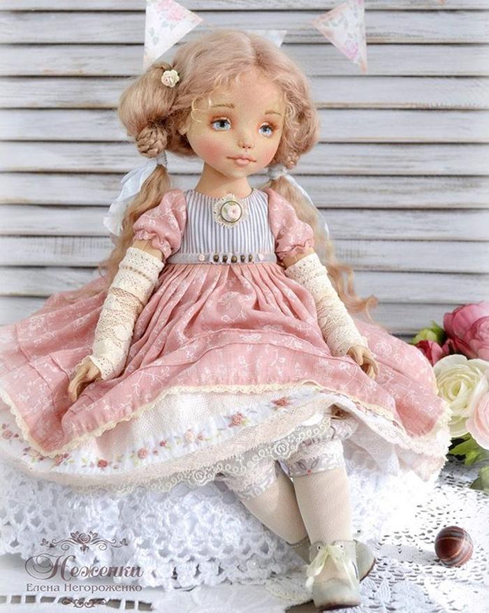 Будуарная текстильная кукла Софья
