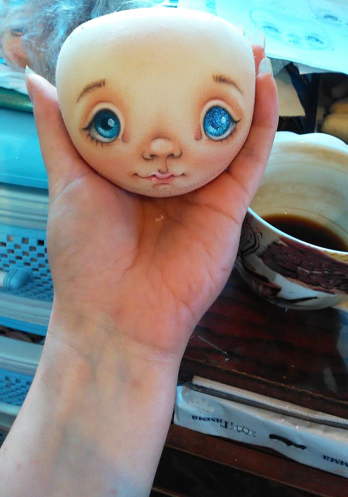 как оформить лицо куклы