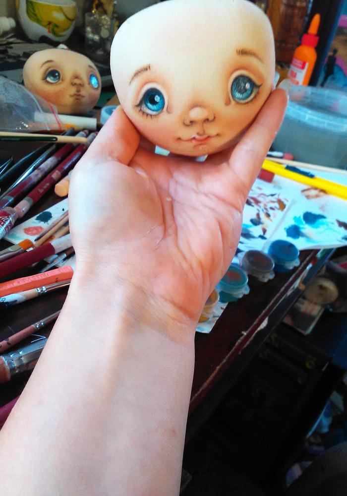 рисовать лицо кукле