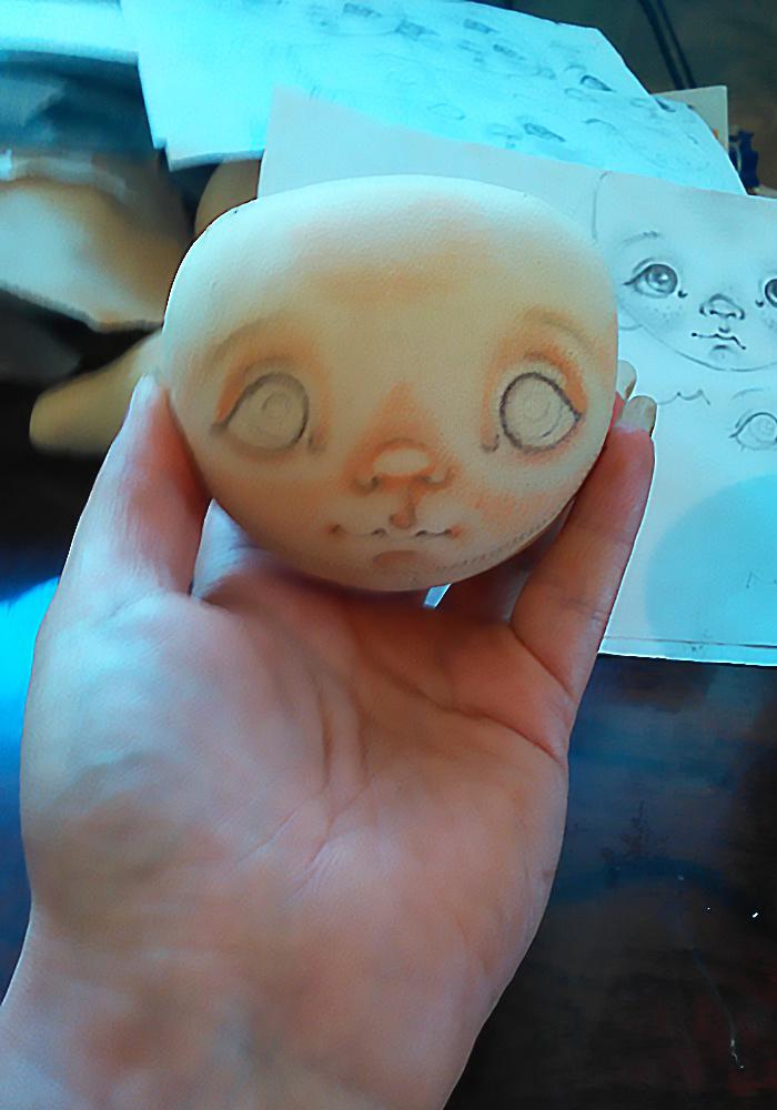 МК рисуем лицо кукла
