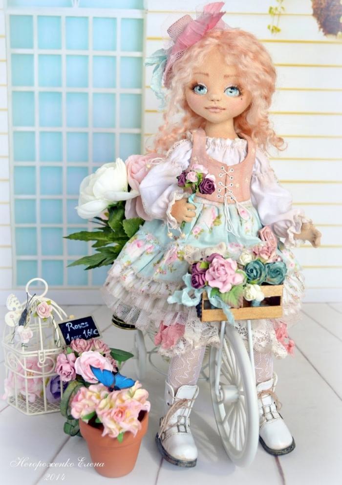 Кукла Вивьен. Автор: Елена Негороженко