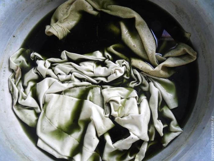 Крашение ткани дома