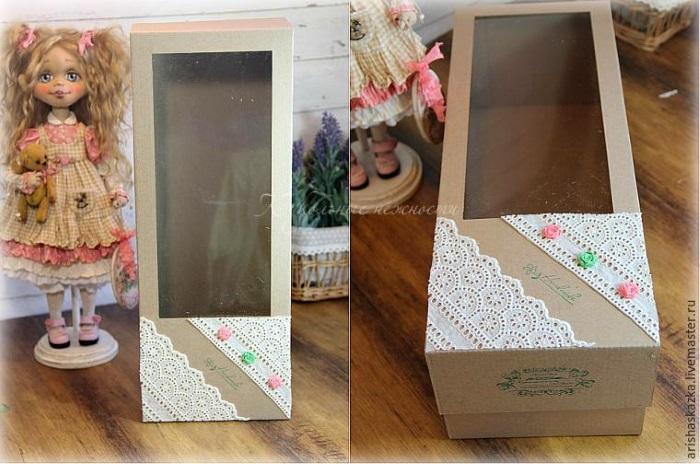 Как сделать коробку для куклы МК