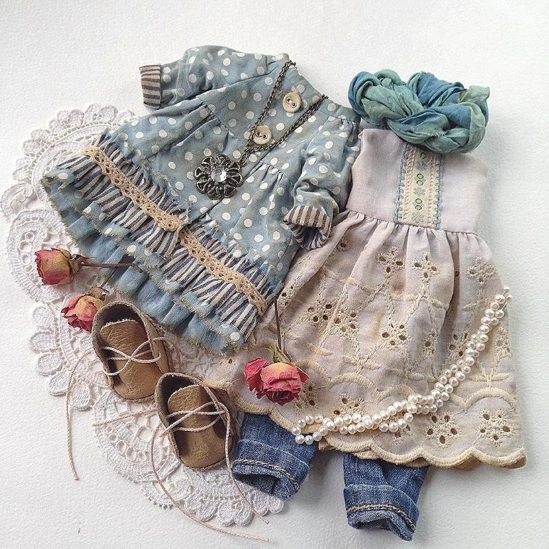 Одежда в бохо стиле для кукол от Дины Крыловой