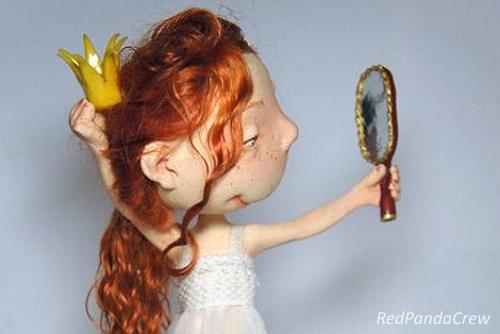 Виды волос для кукол. Кукла Red panda crew