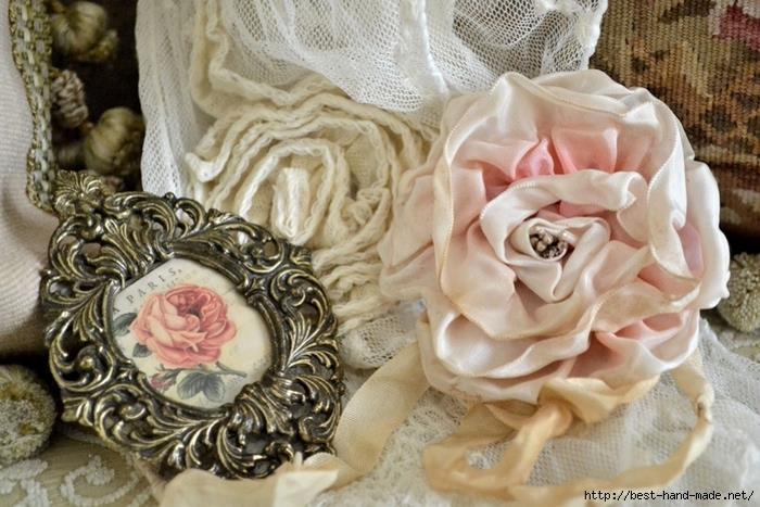 Винтажные розы в стиле шебби шие от JENNELISE