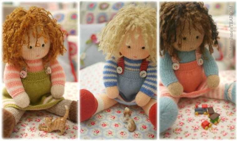 МК: Вязаные куклы